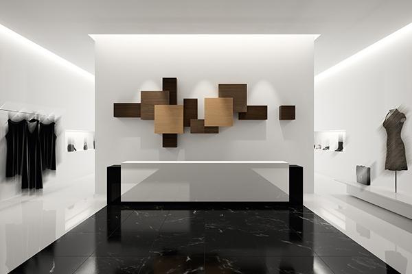 Supermatističke – skulpturalne police koje menjaju utisak u prostoru