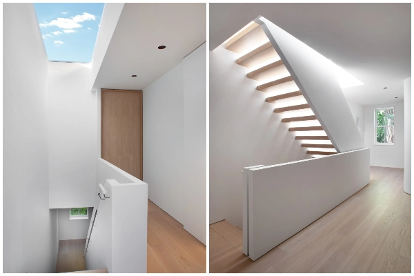 Minimalan & čist dizajn gradske kuće stavlja stepenice u prvi plan