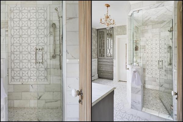 Pogled na kupatilo koje odiše engleskom elegancijom