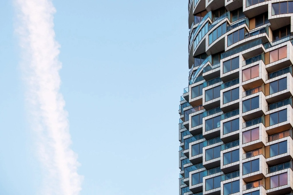 Cilindričan oblik ovog nebodera izdvojio ga je od dosadne okoline