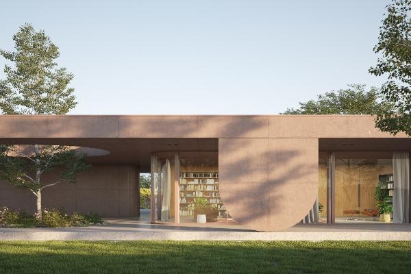 Zanimljiv oblik kuće koja je odlučila da iskoristi sve prednosti okolnog parka