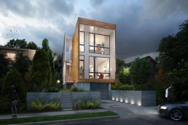 Impresivna kuća od stakla sa belim enterijerom i mnogo svetlosti