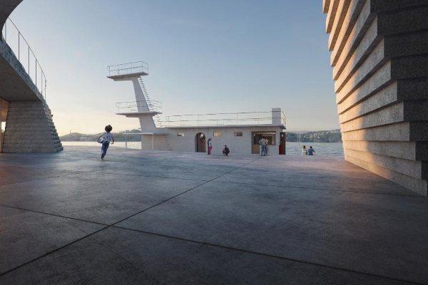 Novi dizajn istorijskog kupališta Knubben u Norveškoj